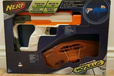 Used Nerf N-Strike Elite Modulus Strike and Defend Upgrade Kit great condition