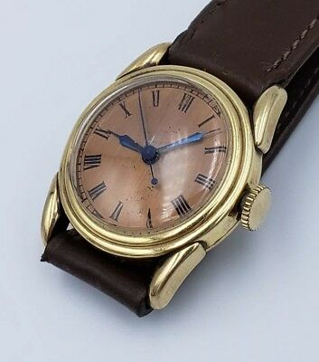Rare 1930s Omega Watch Midsize 23.4 SC Running JR Wood Gold Filled Case