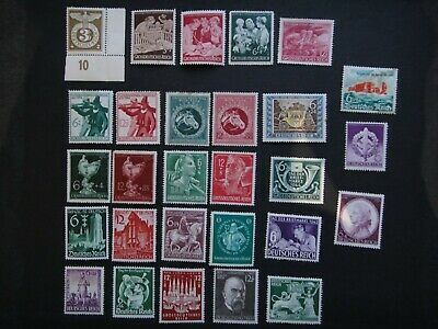 Germany Nazi 1940 1942 1943 1944 1945 Stamps MINT Third Reich German WWII Deutsc