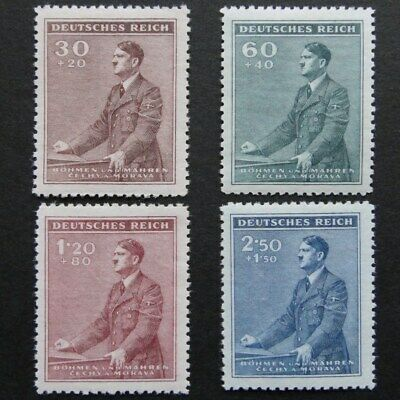 Germany Nazi 1942 Stamps MNH Hitler Third Reich German Bohemia & Moravia B&M