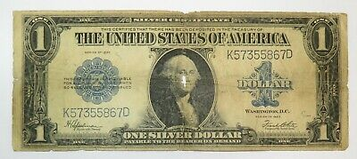 1923 $1 One Dollar Note FR 237 Silver Certificate LARGE Note US Bill Item 20032F