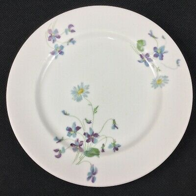 "Syracuse Violets & Daisies CB & Q Railroad ONE 9"" Dinner Plate"