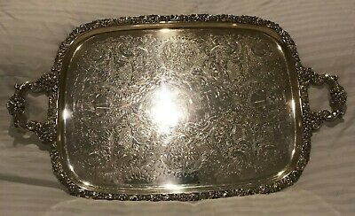 EGW&S EPNS Silverplate Serving Tray Platter Vintage Silver Plate Antique