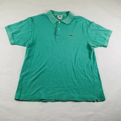67d03b116e0 LACOSTE POLO SHIRT Baby Blue Croc Alligator Logo 100% Cotton Mens Sz ...