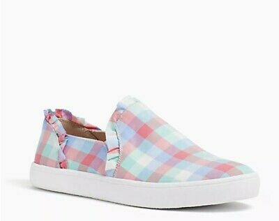 8c0d452b232d NEW Kate Spade Lilly Slip On Ruffle Sneakers ~ Multi Pastel Plaid Women s Sz  6.5