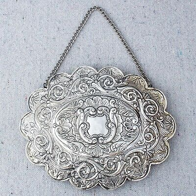Vintage Ornek Sterling Silver Repousse Wall Hanging Turkish Wedding Mirror