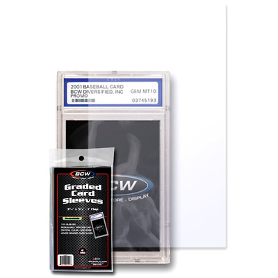 BCW Resealable Bags for Graded Cards - Clear and Acid Free Sleeves - Pack of 100