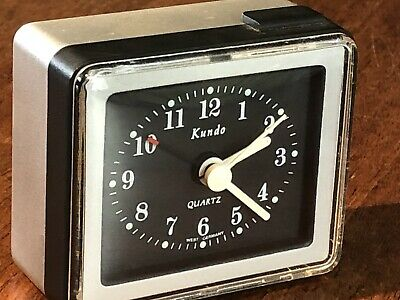 Pre 1990 Vintage Restored Kundo Analog Quartz Made In West Germany Alarm Clock