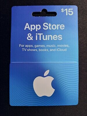 $15 Apple App Store and iTunes Gift Card