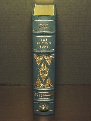 Signed 60 - Franklin Library - The Coming Fury - Bruce Catton - Leather - Fine