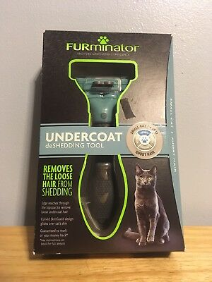 FURMINATOR DESHEDDING TOOL FOR SMALL CATS SHORT HAIR (UP TO 10 Lbs) BRAND NEW