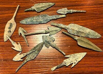 "Ancient Persian Bronze Battlefield Arrow Heads ""ONLY £29 FOR 1 ARROW HEAD"""