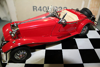 Franklin Mint 1:24 Scale 1935 MERCEDES-BENZ 500K SPECIAL ROADSTER (RED)