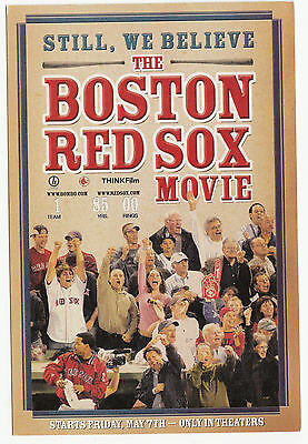 2004 The Boston Red Sox Movie- Still We Believe Promotional Card Postcard- 2003