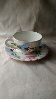 Blue Ridge Southern Pottery Sweet Pea Cup And Saucer