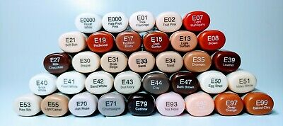 COPIC SKETCH MARKERS EARTH/SKIN TONES E Series