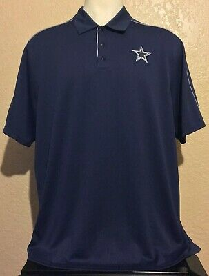 b7c187efd667 Nike Men s Size 2XL Dallas Cowboys NFL On Field Dri Fit Blue Golf Polo Shirt  XXL