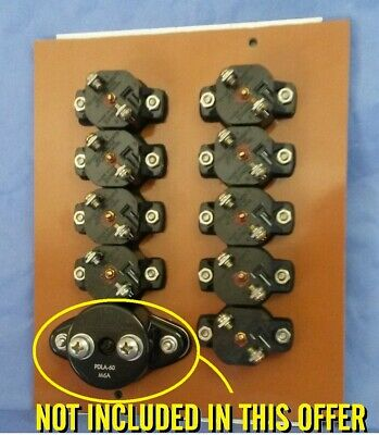 Set Of 9 New Old Stock Nos Vintage Peterbilt 20 And 30 Amp Circuit Breakers