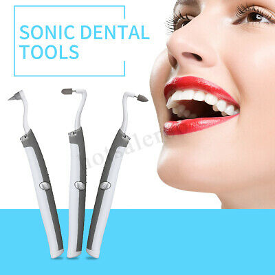 4/3Heads LED Dental Teeth Whitening Polishing Tools Kit Plaque Stain Remover