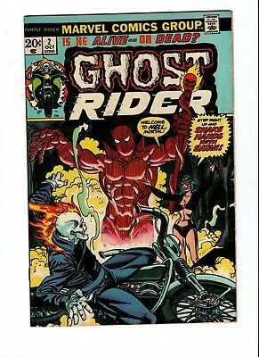 GHOST RIDER #2, VF , 1st full Daimon Hellstrom, Mooney, 1973, See Scans