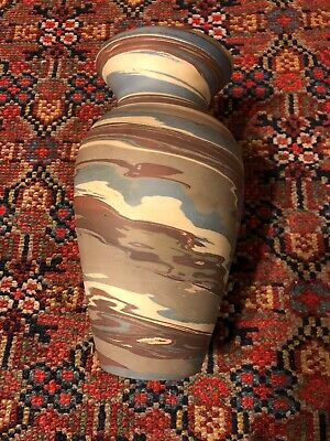 """Very Nice Niloak Mission Swirl Vase 8 1/4"""" Tall Excellent Condition"""