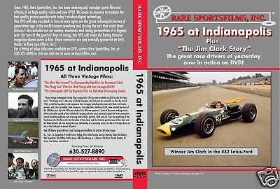1965 Indy 500 plus The Jim Clark Story on DVD!