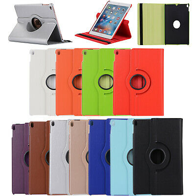 360 Rotating PU Leather Smart Cover Case For Apple iPad Air Mini 1/2 3 Hot EN