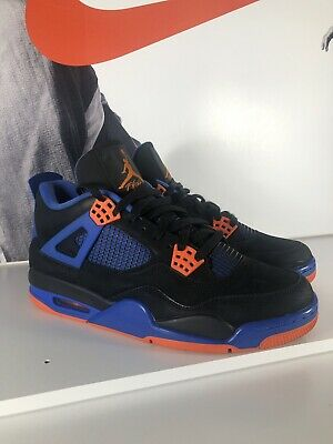 sports shoes 1d98f fdd3c Nike Air Jordan Retro IV 4 Cavs Black Safety Orange Game Royal 9.5  308497-027