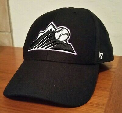 639de7e2a60ec ... adjustable mvp hat mlb f2ba2 d057f  low price colorado rockies 47 brand  osfa unisex strap back black baseball hat cap nwot 3ef74