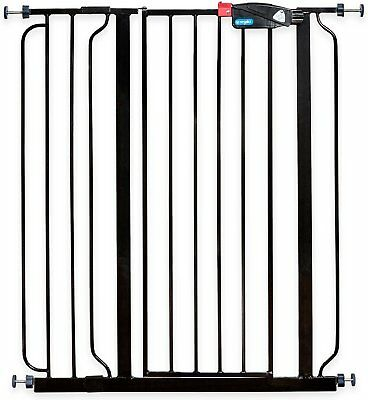 Regalo Easy Step Extra Tall Walk-Through Gate,Color: Black, 41-in