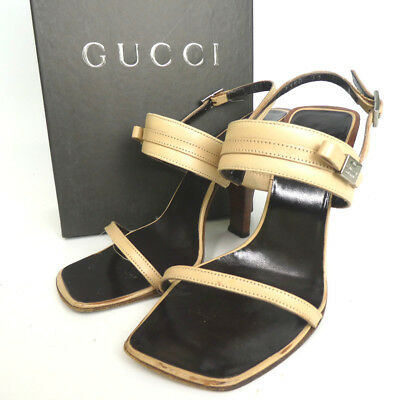 bc9483920 Authentic GUCCI Sandals Leather Ladies[Used]