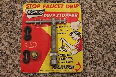 PLUMBING TOOL O'MALLEY STOP FAUCET DRIP STOPPER VINTAGE Old New Stock