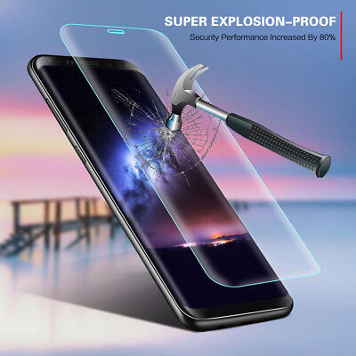 For Samsung Galaxy S9 S8+ Curved Tempered Glass Screen Protector Protective Film