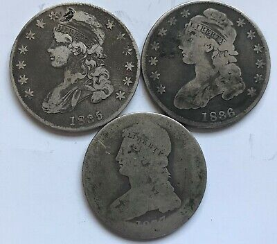 Low Grade / Damaged Capped Bust Half Dollars: 1835, 1836 and 1837