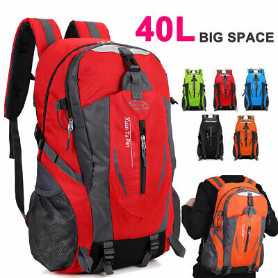 40L Hiking Camping Bag Large Waterproof Travel Backpack Outdoor Luggage Rucksack