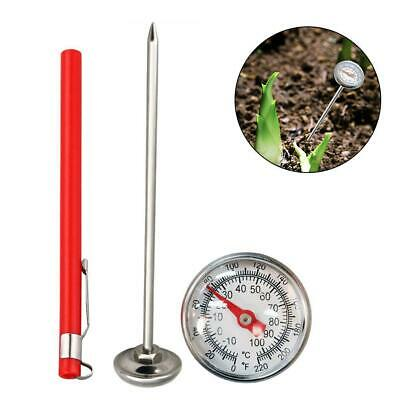 Stainless Soil Thermometer 127mm Garden Compost Thermometer Growing Plants Seeds