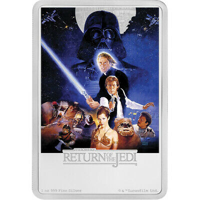2017 $2 Niue Star Wars Return of the Jedi 1oz 999 Silver Coin