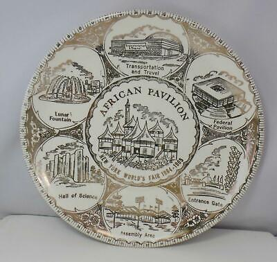 "African Pavilion New York World's Fair 1964-1965 Ceramic 9 1/4"" Plate"