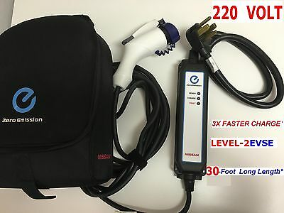 for Nissan Leaf Fiat 500e EV LEVEL-2  220-VOLT 3x Fast Charger Dryer Plug 30feet
