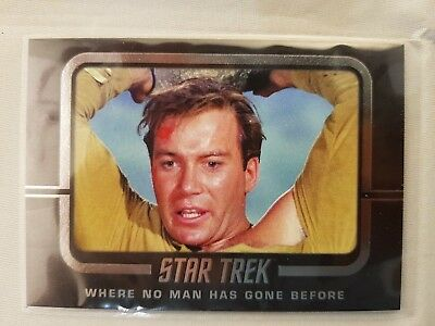 Star Trek  TOS CAPTAINS COLLECTION  WHERE NO MAN HAS GONE BEFORE W64  ODDS 1:8