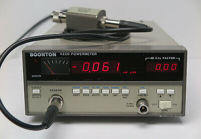 Boonton 4220 Power Meter w/ GPIB & 51075 Power Sensor & Cable, 0.5 MHz to 18 GHz