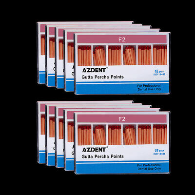 20 Packs Dental Endo Gutta Percha Points F2 Root-Canal Obturating Points AZDENT