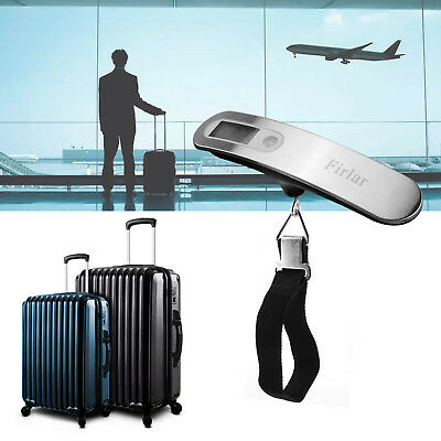 110lb Hanging Digital Suitcase Luggage Scale Line Type Portable Travel Tare