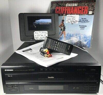 TESTED Pioneer CLD-M301 Laser Disc LD Combo 5 CD Player + Remote AV Cable Manual