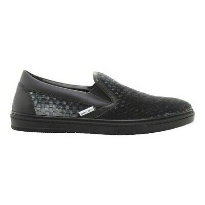 69ff9a70d317 Jimmy Choo Men s Grove Woven Embossed Velvet Slip-On Sneaker Dust Grey  Velvet