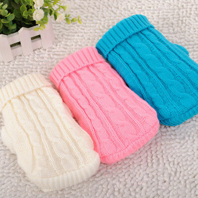 New Dog Knitted Jumper Embroidery Chihuahua Clothes Pet Puppy Cat Sweater 2019