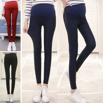 Elegant Pregnant Women Casual Winter Warm Thicken Long Pants Trousers Solid Mini