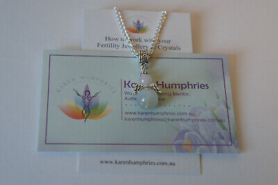 1 Fertility Guardian Angel Pendant Hope Healthy Pregnancy IVF TTC Jewellery
