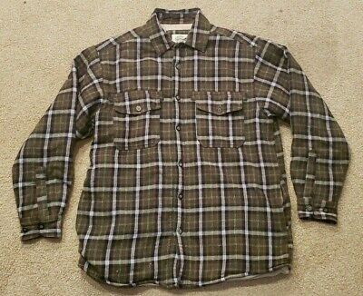 2004ca5d5a Levis Men s Sherpa Lined Green Plaid Long Sleeve Flannel Shirt Jacket Size M
