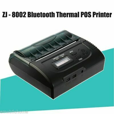 ZJ-8002 80mm Bluetooth Thermal POS Printer ESC Android Bill Machine Portable